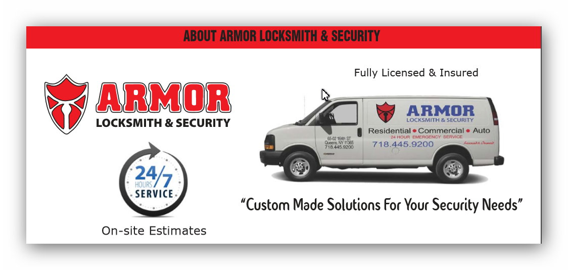 ABOUT ARMOR LOCKSMITH & SECURITY
